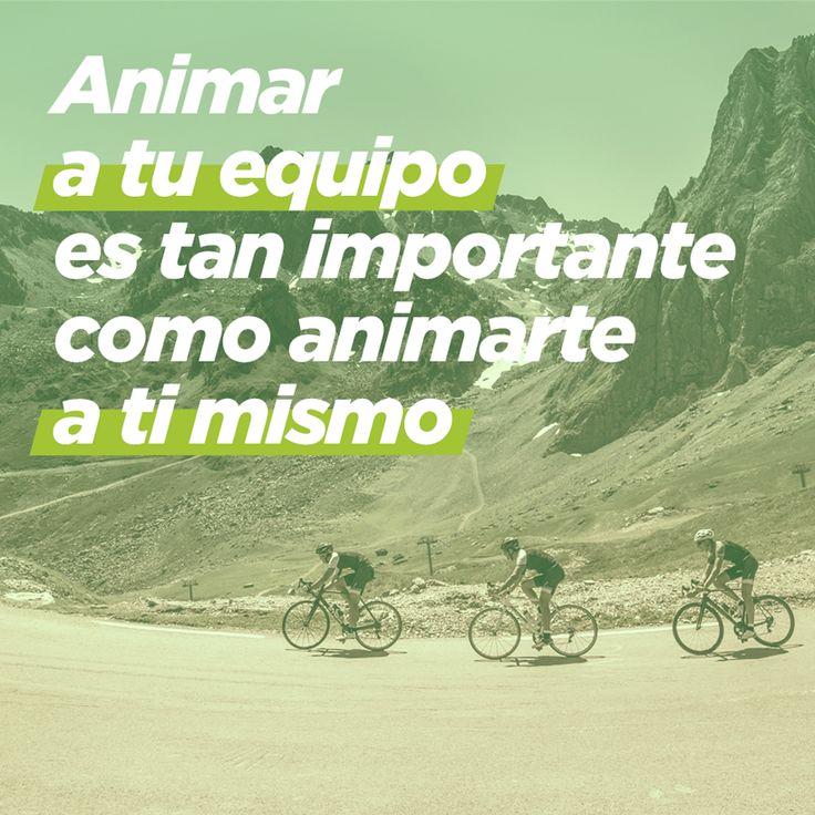 Cuando alguien se cae, le animas para que se levante y siga. No olvides hacer tú lo mismo. #ciclismo #decathlon #deporte