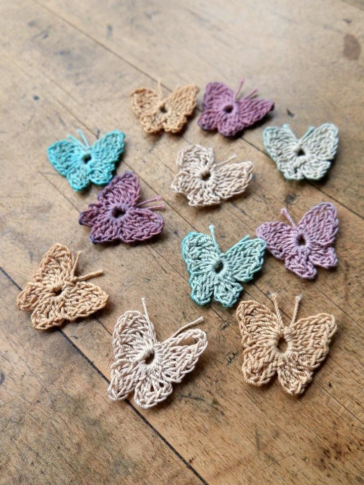 Crochet Butterfly : Crochet Butterflies Crochet Motifs & Edgings Pinterest
