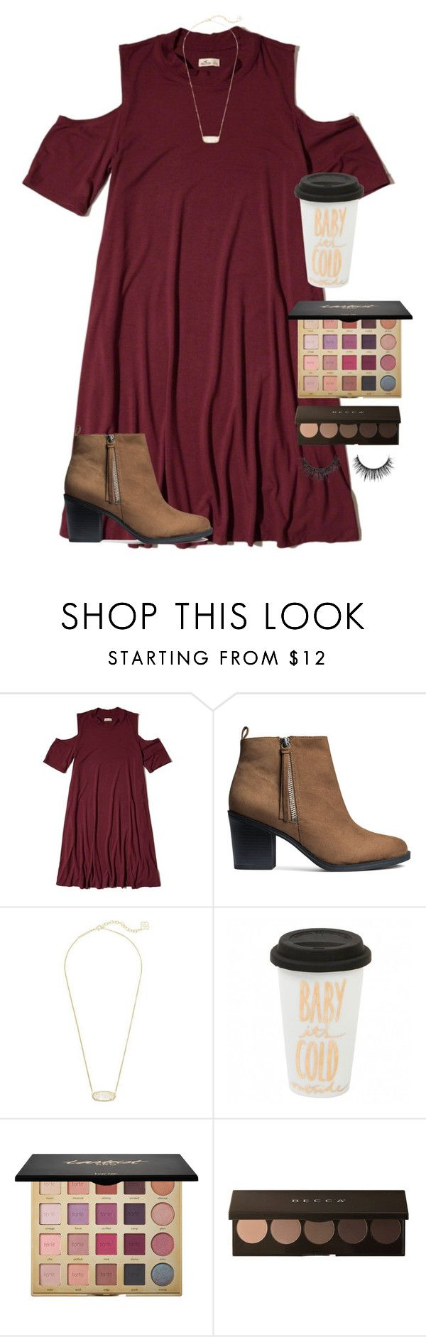 """""""Sunday best"""" by emmagracejoness ❤ liked on Polyvore featuring Hollister Co., H&M, Kendra Scott and tarte"""