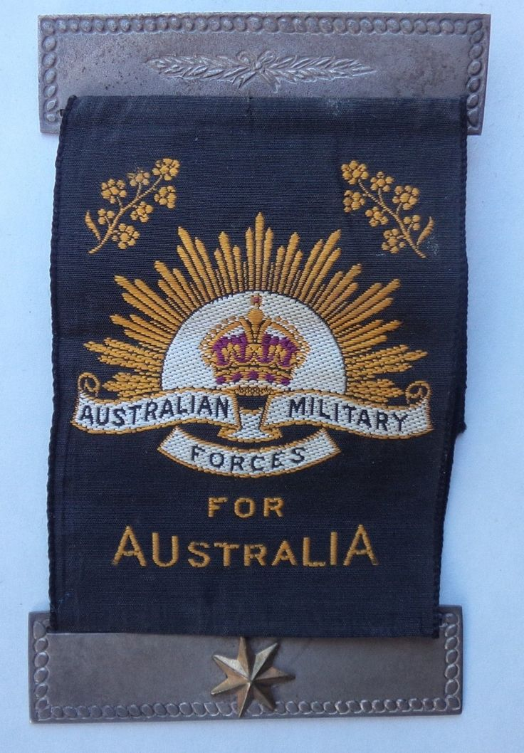 WWI MOTHERS WIDOWS RIBBON ONE STAR AUSTRALIAN MILITARY FORCES AIF ANZAC in Collectables, Militaria, World War I (1914-1918)   eBay!
