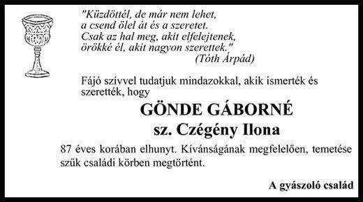Gönde Gáborné