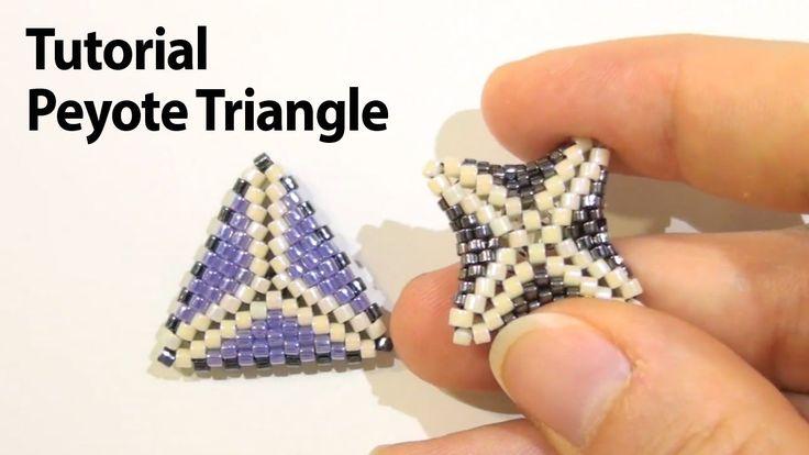 Basic Peyote Tutorial - How to make a triangle using Peyote Stitch