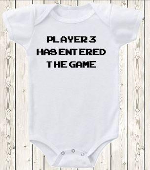 Gaming Schwangerschaft Ankündigung Strampler von The1stYearBaby