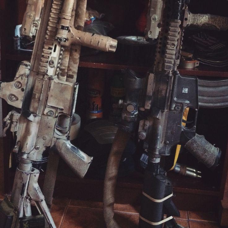 HK416D - AOR1 Paintjob MK18 MOD1 - Old School  Seal Style Airsoft Guns