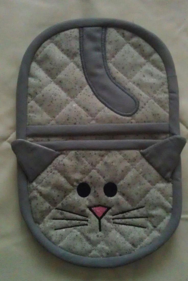 In the hoop Kitty oven mitt by Christysdigitalfiles on Etsy, $6.00                                                                                                                                                                                 More