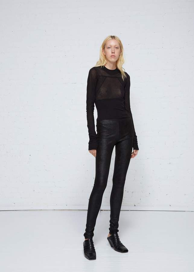 2368bd0959cf68 Rick Owens Lamb Skin Leather Leggings | Products