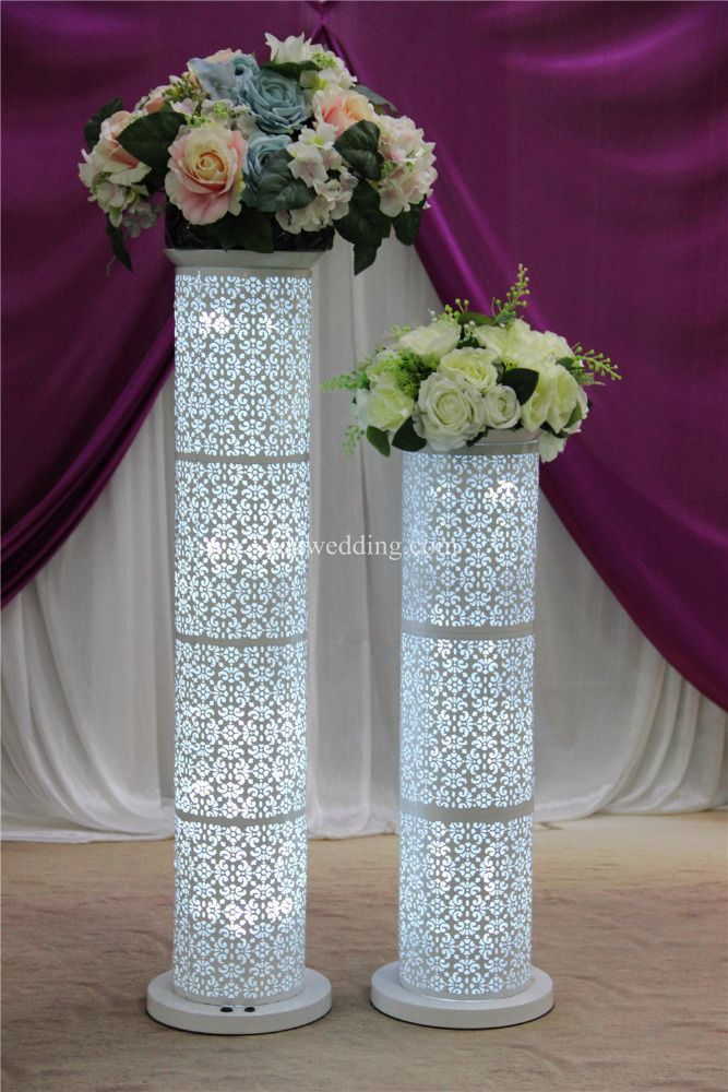 Hot Sale Wedding Columns Used Decorations Pillars With Led