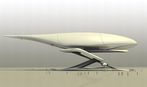 Futuristic Vehicle, Airbia concept to provide cleaner, quicker transport from suburbs