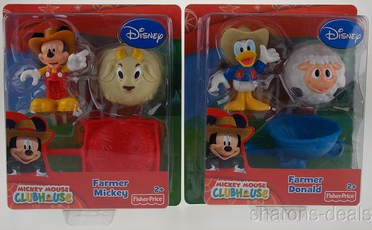 Disney Clubhouse Farmer Mickey Mouse Donald Duck Set 2 Fisher Price Figurine NEW #DisneyFisherPrice