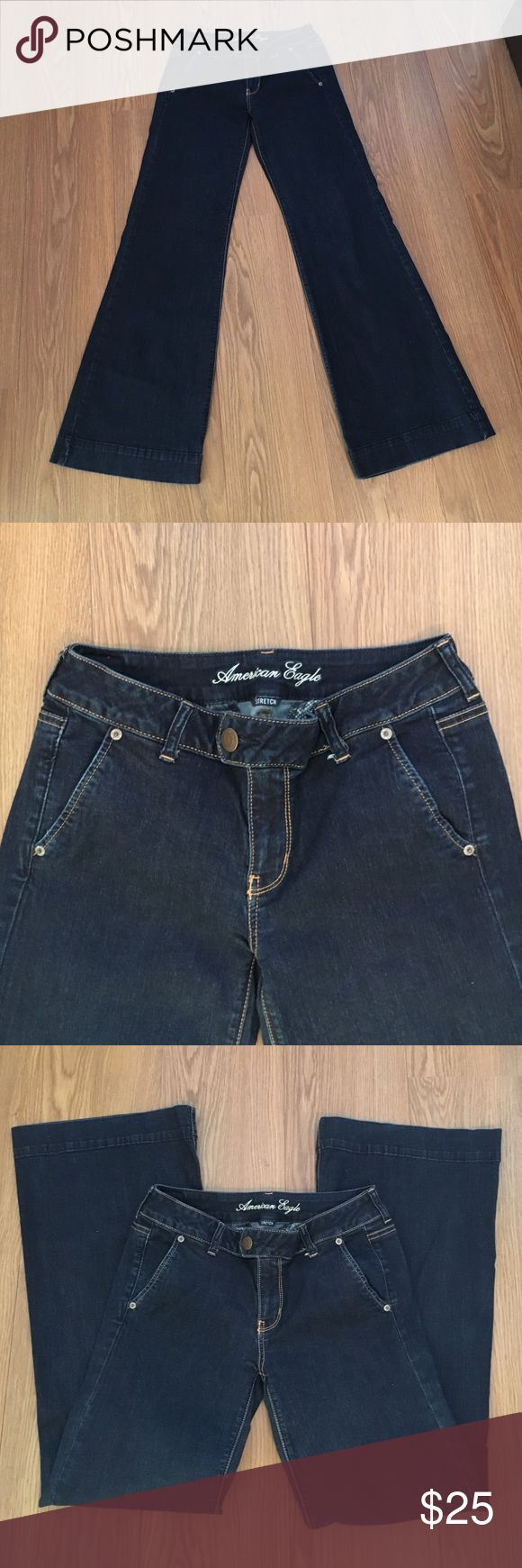 "American Eagle Outfitters Stretch Trouser size 8 Very good fit.  I am 5'9"" and just barely too short for me to wear any kind of heel. American Eagle Outfitters Jeans Boot Cut"