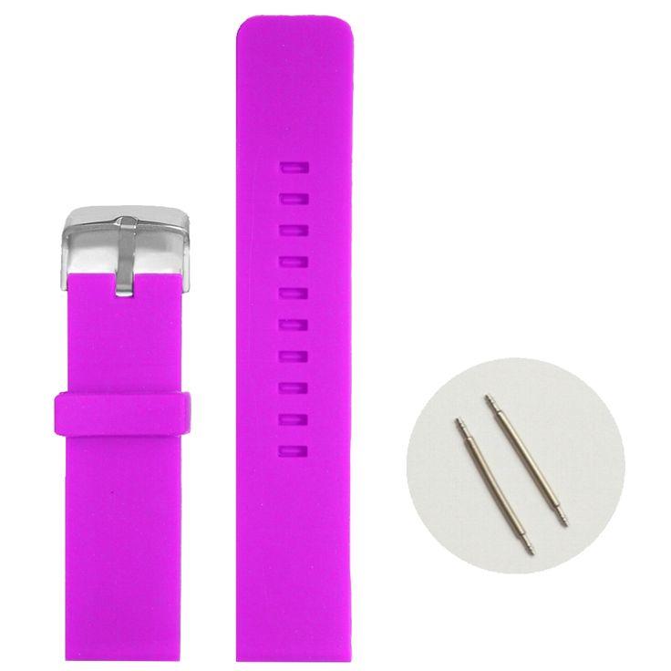 Diversión 22mm Color Púrpura jalea del silicón de goma de señora reloj de la venda correas WB1081I22JB