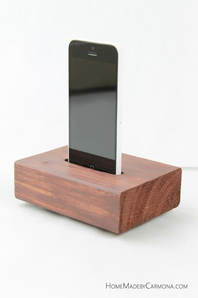 Don't waste scrap wood - use it to make this super stylish DIY phone charging station! Here's the tutorial.