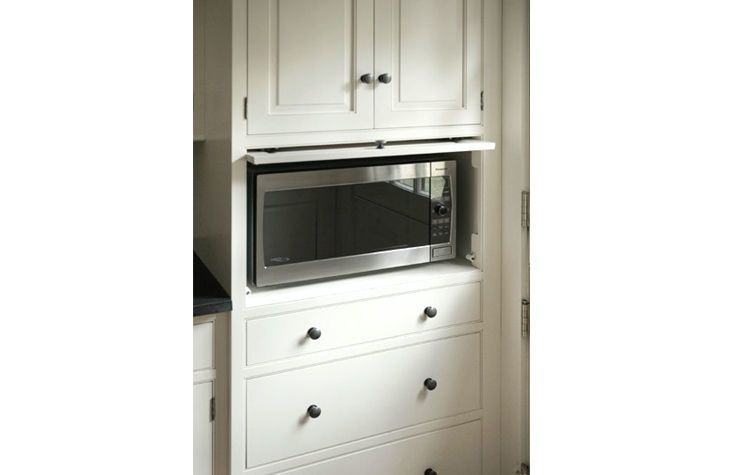 Hidden Microwave Traditional Kitchen Heartwood Kitchens