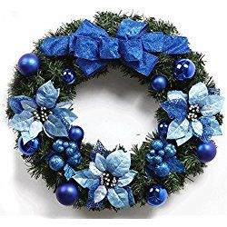 9 best Blue Christmas Wreaths images on Pinterest | Blue christmas ...
