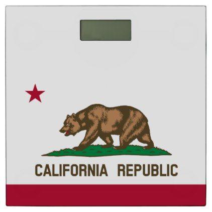 California Republic flag custom bathroom scale - home gifts ideas decor special unique custom individual customized individualized