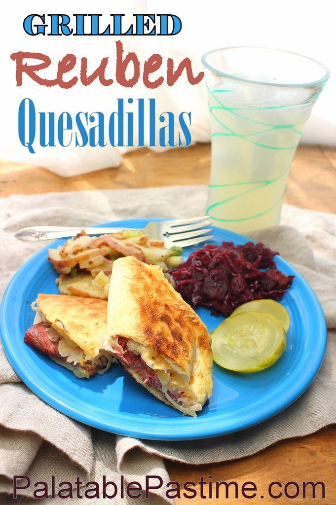 Grilled Reuben Quesadillas