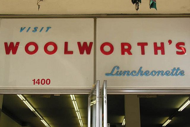 Woolworths Luncheonette by Dave van Hulsteyn, via Flickr