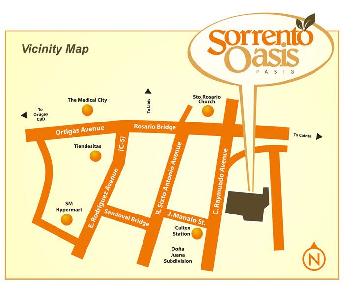Sorrento Oasis Location