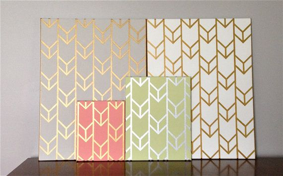 Customizable HandPainted Acrylic Chevron by SquirrelsAndStripes- thinking about painting a mirror