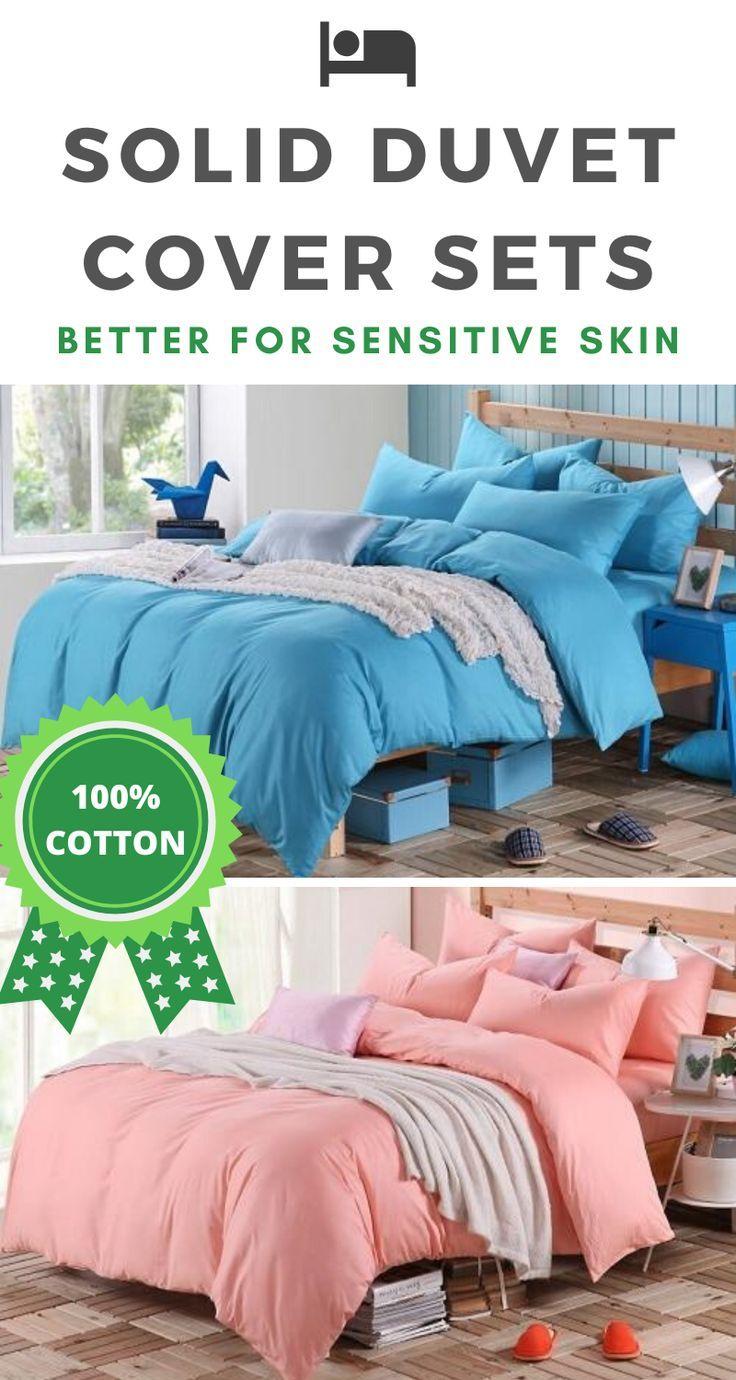 Dual Color 100 Cotton Bedding Set 15 Colors In 2020 Cotton