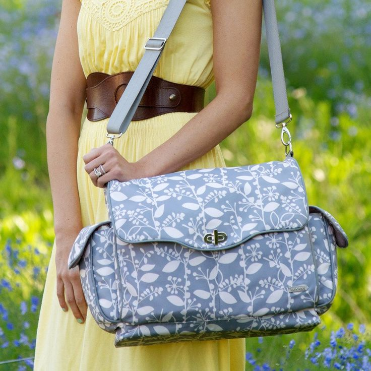 JJ Cole Diaper Bag Cadence Ash - favorite diaper bag ever - the only one on my registry!  Woodland#GiveMomStyle