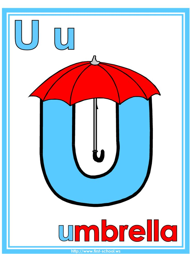 Letter U Umbrella theme lesson