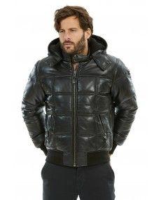 Doudoune Schott tout en cuir: tendance pour l'hiver