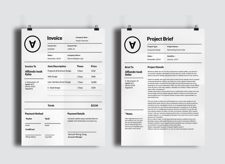 86 best Invoice Design images on Pinterest Invoice design, Brand - invoice designs