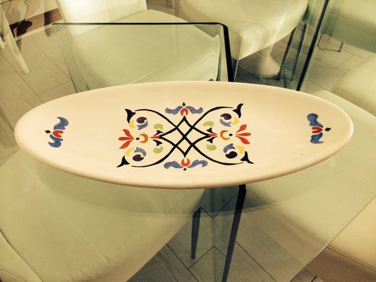 Platter hand painted by Lynda McBride