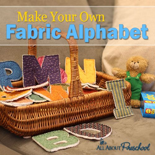 Make Your Own Fabric Alphabet | All About Learning Press
