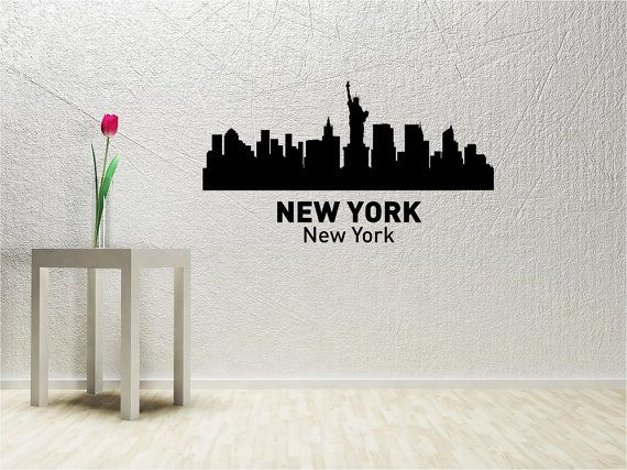 SlapArt New York New York City Skyline Wall by VinylMasterpieces, $15.99