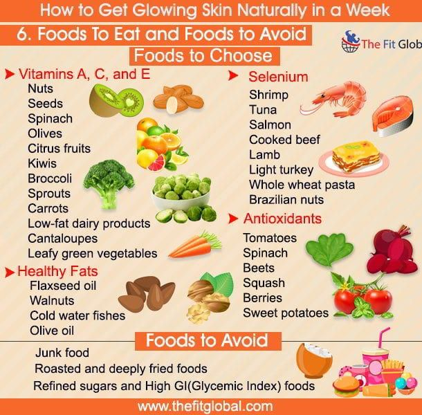 Glowing skin how to get naturally diet