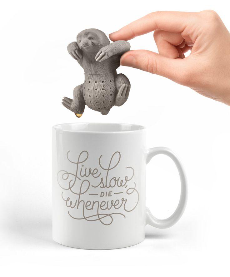 Slow Brew Sloth Tea Infuser #kitchen