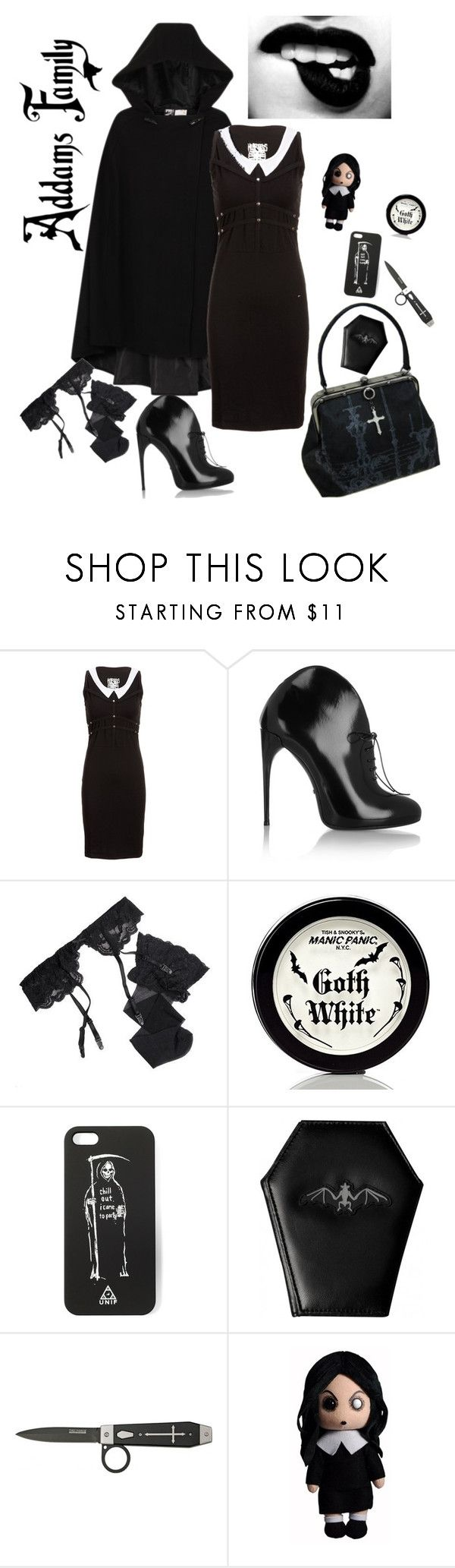 """""""Wednesday 2"""" by tdmonty ❤ liked on Polyvore featuring Gucci, Reger by Janet Reger and Manic Panic NYC"""