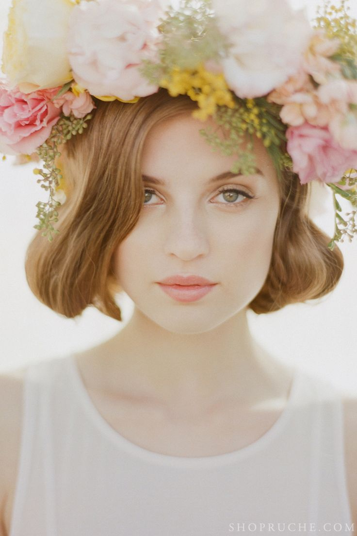 154 best wedding flower crowns images on pinterest floral crowns flower crown see more forever and a day ruche spring 2013 bridal collection dhlflorist Images