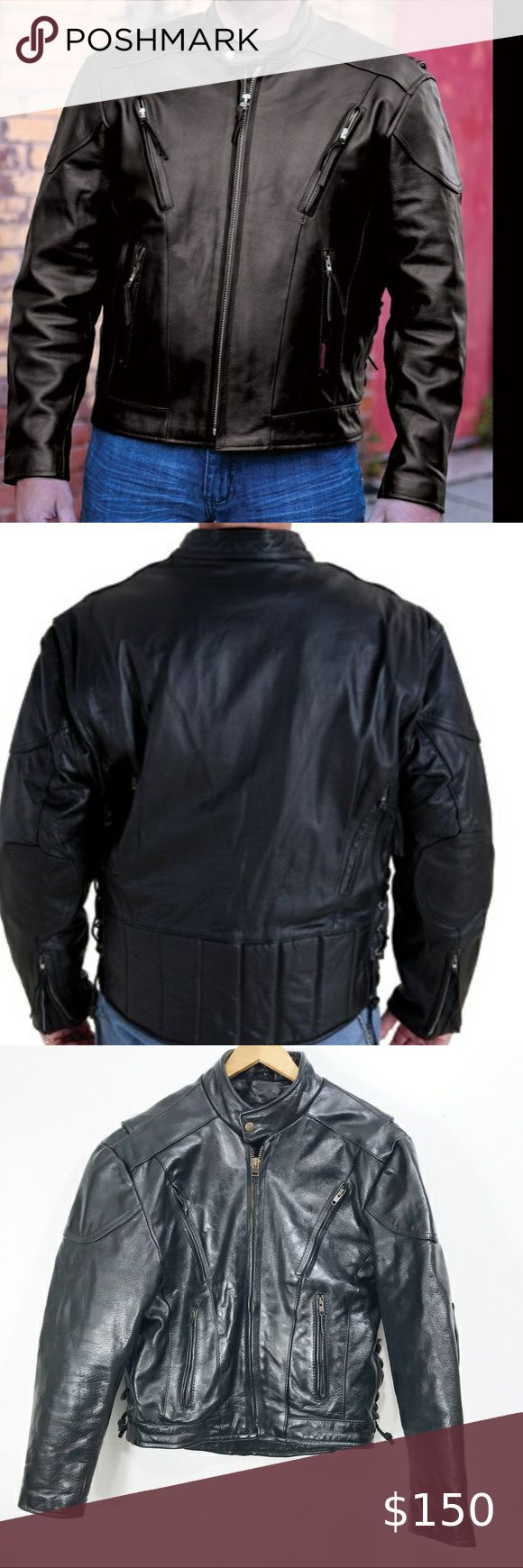 Interstate Leather Black Jacket M Interstate Men S Black Leather Jacket Size M Color Black Bought It But Never Worn Leather Jacket Black Black Jacket Jackets [ 1740 x 580 Pixel ]