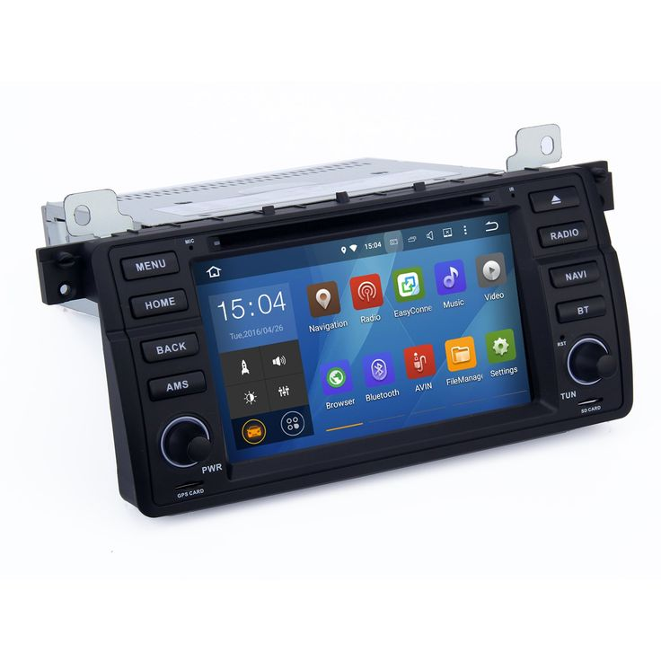 SYGAV Android 5.1.1 Lollipop Car Stereo CD DVD Player for BMW E46 M3 318i 320i 325i 328i with Quad Core Radio 2 Din 7inch In-dash GPS Sat Navigation