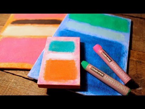Mark Rothko Inspired Art Project - Fun & Easy Oil Pastel How-to - YouTube