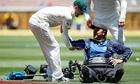 Australian cameraman crashes Segway during Australia v India Test