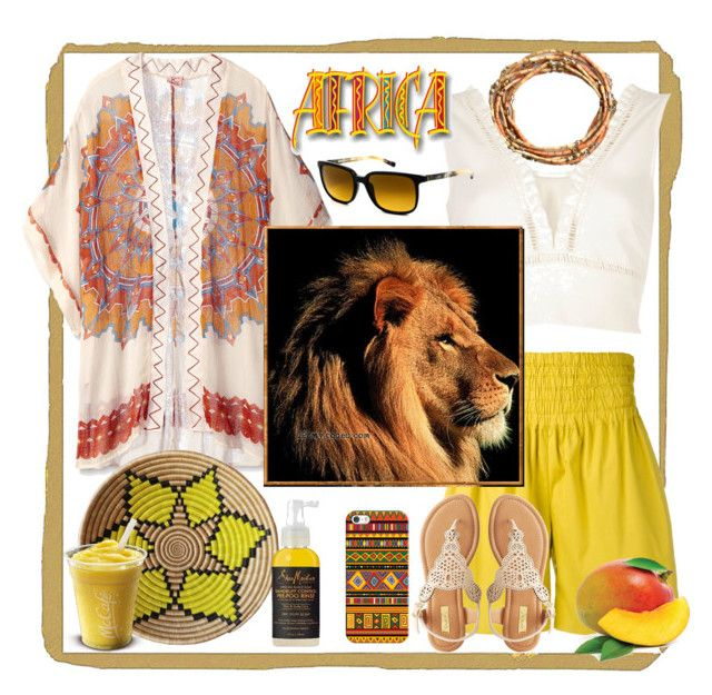 """Africa in your heart"" by natalyapril1976 ❤ liked on Polyvore featuring River Island, Rochas, Theodora & Callum, Casetify, Indego Africa, SheaMoisture, MANGO, Etnia Barcelona and Qupid"