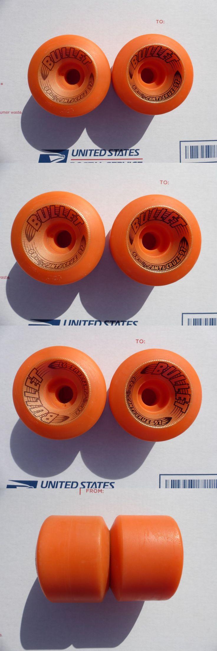 Decks 16263: Santa Cruz Bullet Vintage Skateboard Wheels, 2 Only BUY IT NOW ONLY: $65.0
