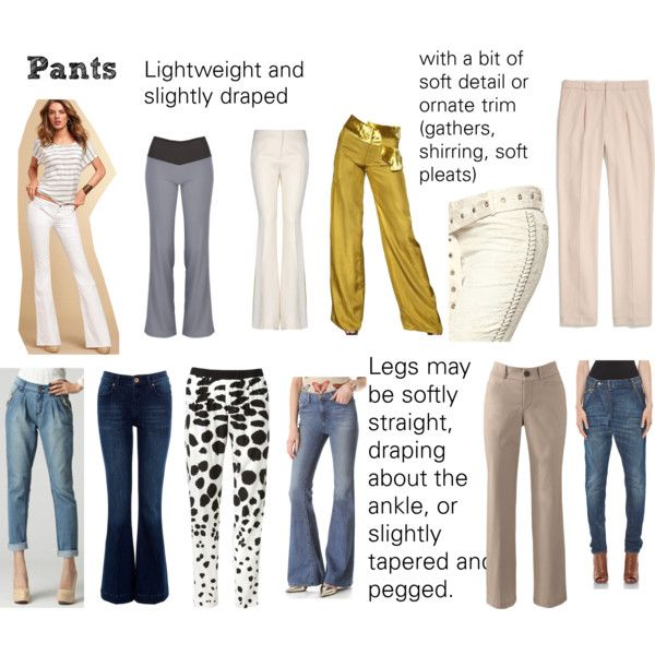 Soft Natural (SN) - Pants by lightspring on Polyvore -- reeeeallly not sure about this one, but the other sets were good so I'm including this as well.