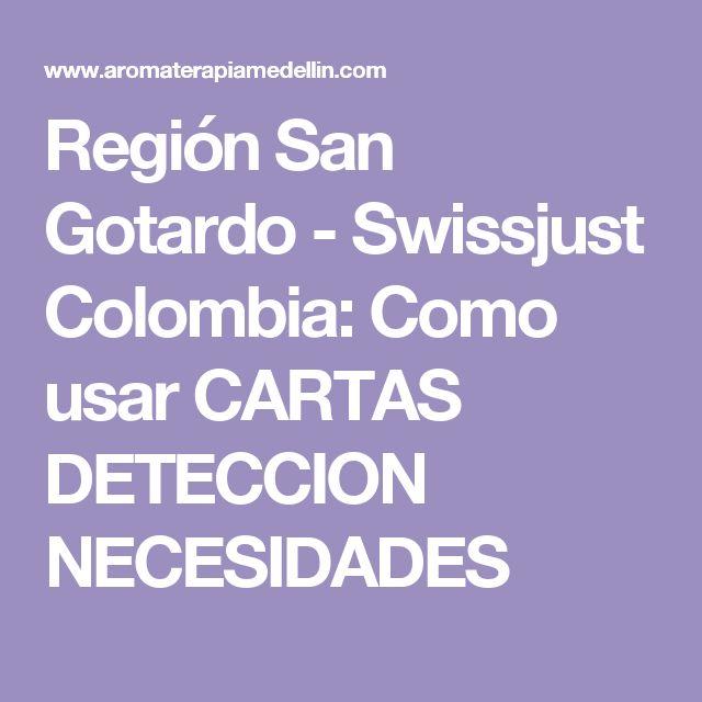 Región San Gotardo - Swissjust Colombia: Como usar CARTAS DETECCION NECESIDADES