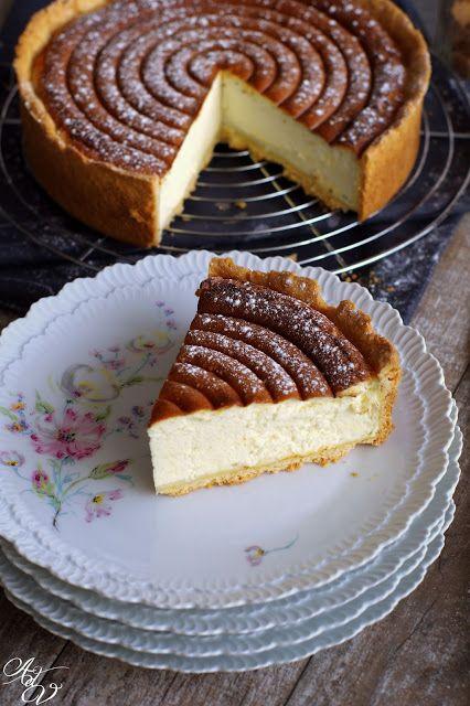 Aux délices de Vany: Käsekuchen ou Tarte au fromage blanc Alsacienne