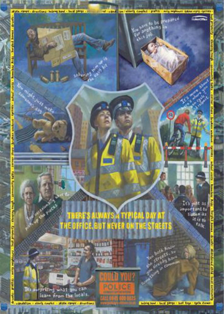 Read more: https://www.luerzersarchive.com/en/magazine/print-detail/police-support-officers-london-37662.html Police Support Officers, London Recruiting campaign for Police Community Support Officers. Tags: M&C Saatchi, London,Paul Pickersgill,Graham Fink,Jamel Akib,Police Support Officers, London,Simon Warden