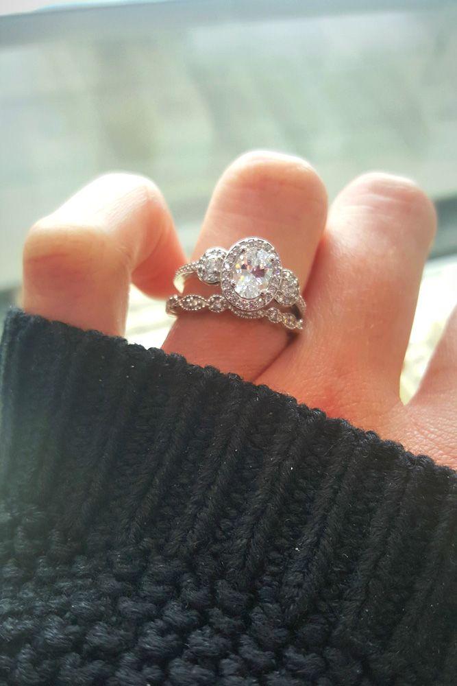 Wedding Ring Sets That Make The Perfect Pair ❤ See more: http://www.weddingforward.com/wedding-ring-sets/ #weddings