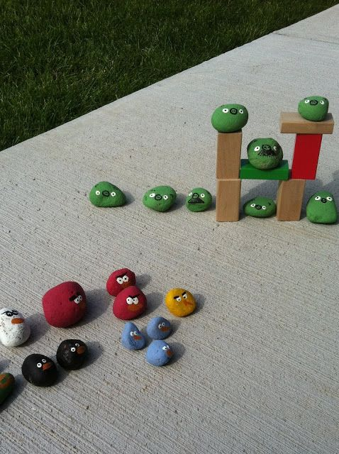 funny games for kids: analog angry birds - crafts ideas - crafts for kids