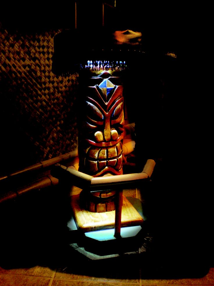 Man Cave Tiki Bar : At night when your customers are their the optional l e d