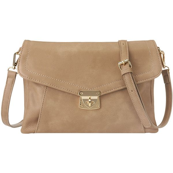 Nine West Callie Crossbody Bag (54 AUD) ❤ liked on Polyvore featuring bags, handbags, shoulder bags, purses, bolsas, accessories, neutral synthetic, crossbody shoulder bags, fold over crossbody purse and man bag