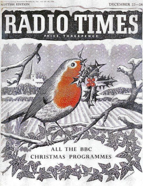 Radio Times Cover, 1957 Christmas - I was nearly a year old. Would have been bought for Radio listings - no TV until I was about 7
